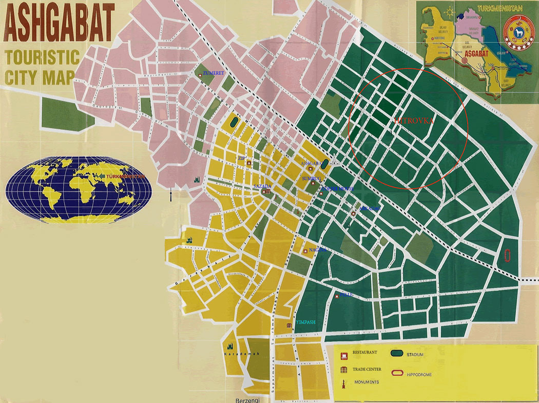 ASHGABAT MAP | Online World map
